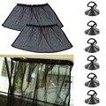 1 par 40*80 cm Coche Parasol Cortina Cortina de Coches Ventana Lateral Parasol Sombrilla Del Parabrisas Del Visera del Protector Bloquear Negro cortinas de Protección UV