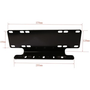 Image 2 - Marloo Universal Front Bumper License Plate Mounting Bracket Holder For Offroad LED Driving Work Light Bar Truck SUV 4x4 4WD