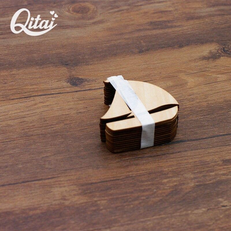 QITAI 12 Pcs / lot perahu berlayar jauh Kayu Alam Veneer DIY - Dekorasi rumah - Foto 3