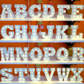 Carta A-Z & Sinal CONDUZIDO Luzes Letra Do Alfabeto de Madeira Noite luzes Da Parede Interior Mesa Decoração Da casa de Artesanato Para A Festa de Casamento decoração