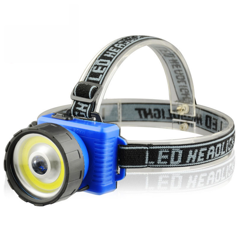 New Ultra Bright COB LED Headlamp 2 Mode Headlamps COB Chip+led headlight Torch AA Head Torch Lanterna for Hiking Camping new 003a 3 mode white zoom led headlamp black 4 x aa