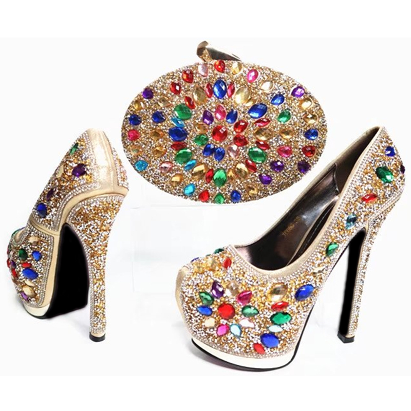 Chaussures Mis Et Or Le Africaine or Pu rouge Mariage Couleur Sac Pour Chaussure Femmes En Italie Nigérianes Ciel Fête Dans argent Ensemble La WqtqrXE