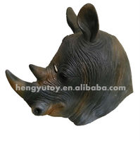 2013 Hot Selling Realistic Full Head Carnival Mask Celebrations Party Adult Cap Rhino Mask