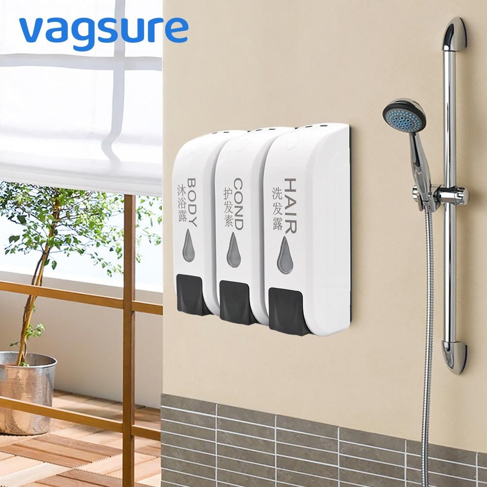 Single/Double/Triple Shower Soap Dispenser Wall Mounted Seifenspender Liquid Soap Shampoo Dispenser Washing Lotion For Bathroom