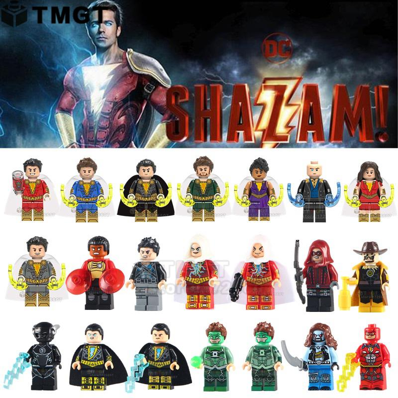 Tmgt single legoings shazam super hero flash aquaman freddy freeman black adam pedro harley - Flash le super heros ...