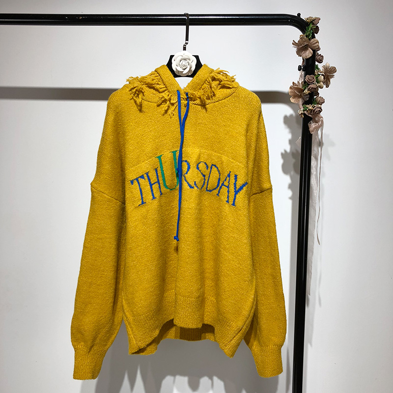 Borla Otoño Letras Streetwear Mujer Jumper 2018 Invierno Suéter Pullovers Moda  Suéteres Capucha wgqHW1I 52a7f6154424
