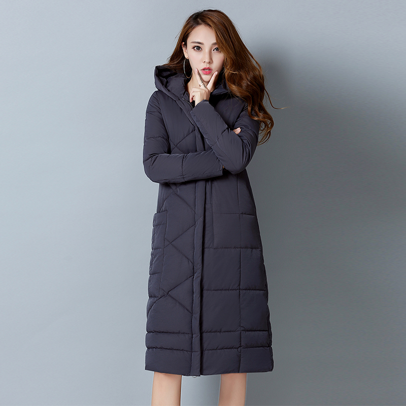 2017 Winter Cotton Padded Jacket Women Slim Thick Female Coat Parkas Warm Long Jackets Lady Overcoat High Quality Quilting new collocation winter warm parkas hooded pockets zipper solid thick women coat slim long flare slim cotton padded lady jackets