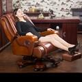 Couro de alta qualidade cadeira de escritório cadeira do computador de casa girando luxuoso confortável casa chefe da cadeira da massagem do lazer