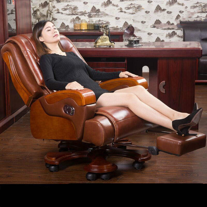 High quality leather home computer chair rotating luxurious office chair comfortable household leisure massage boss chair 240337 ergonomic chair quality pu wheel household office chair computer chair 3d thick cushion high breathable mesh