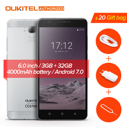 Oukitel U16 Max Smartphone Android 7.0 MTK6753 Octa Core ROM 32G+RAM 3G 6.0 inch Fingerprint Touch ID 13.0MP 4000mAh Cellphone