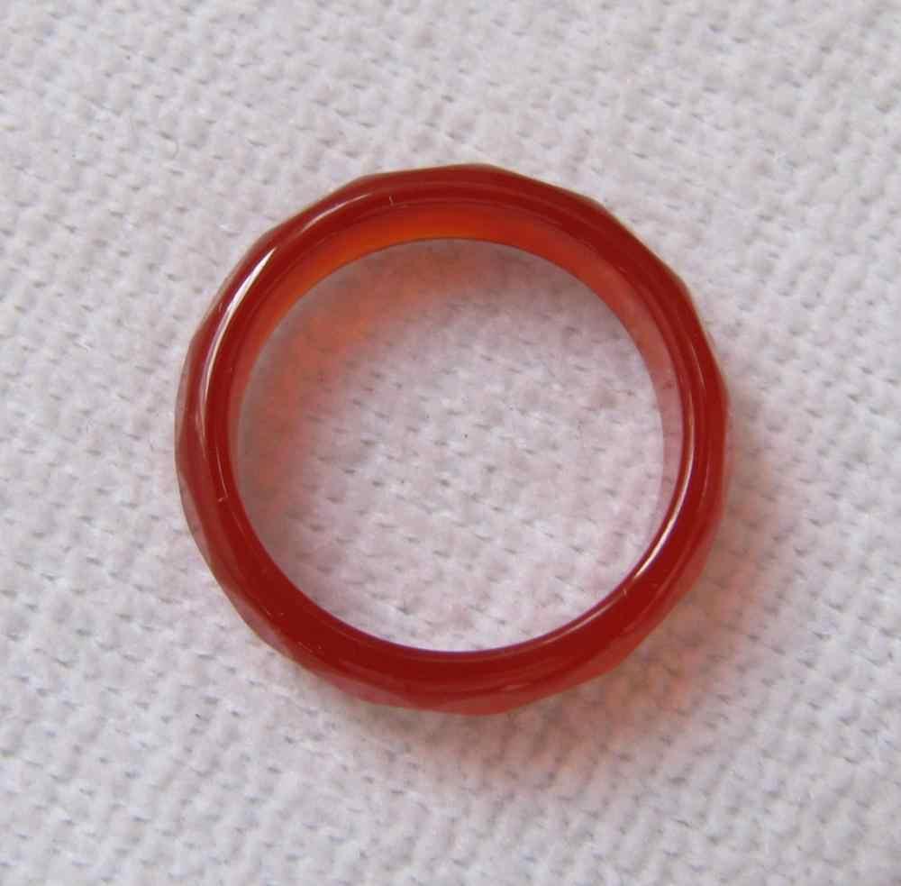 จัดส่งฟรี>>>@@จีนธรรมชาตินิลสีแดงหยกเครื่องจักรกลแกะสลักแหวนขนาด7-8 # fast A