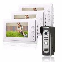 """HD 7 """"TFT Color Video de la puerta Sistema de Intercomunicación Del Timbre del teléfono Kit IR Monitor de la Cámara del teléfono Manos Libres de Intercomunicación"""