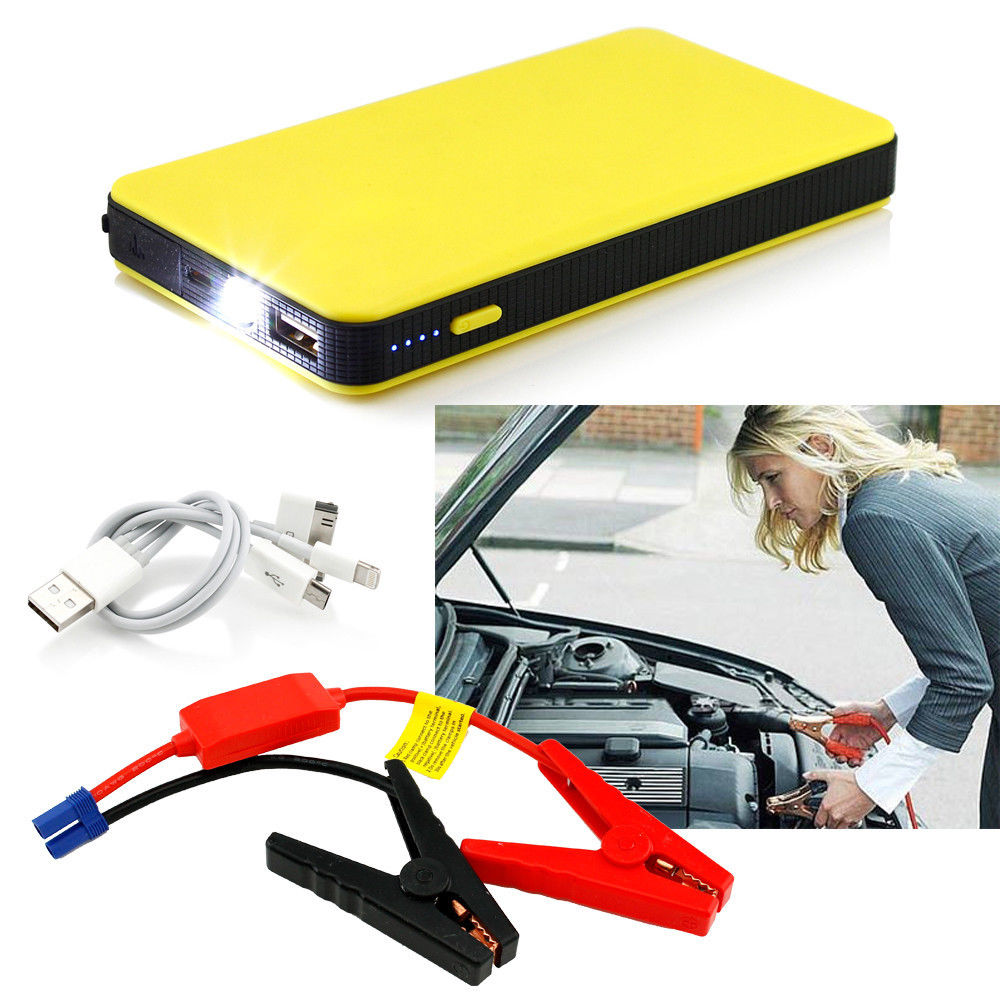 imágenes para Liplasting 8000 mAh Jump Arranque Auto Car Vehículo Cargador de Batería del Banco de Potencia de Arranque Externo Rojo Amarillo de Dos colores