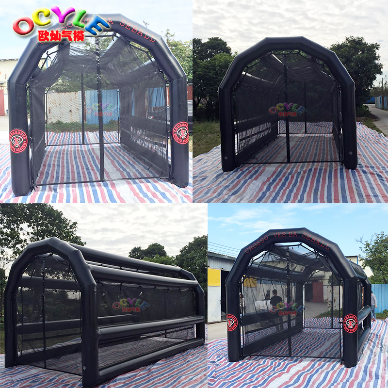 Seald type inflatable batting cage wholesale netting, giant inflatable sports games