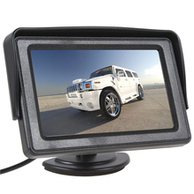 "4.3"" 480 x 272 Color TFT LCD Rear View Camera Monitor 2 Video Input DVD Player Car Rear Monitor for Reverse Camera DVD VCD"