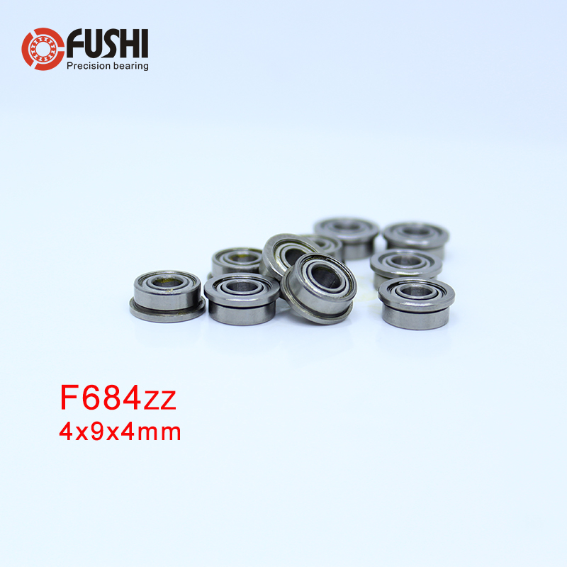 10 PCS 440c Stainless Steel FLANGE Metal Ball Bearing SF684zz F684zz 4x9x4 mm