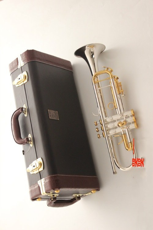 2018 New Bach trumpet LT180S-72 plateds Silver Golden Trumpet Bach Instruments Musical Performance Professional professional new silver plated trumpet bb keys with monel valves horn case