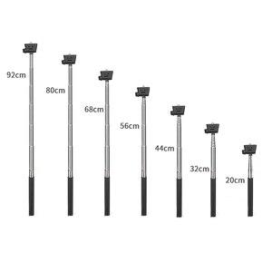 Image 4 - SHOOT Aluminum Alloy Extendable Monopod For Gopro Hero 8 7 6 5 Black Silver Xiaomi Yi 4K Lite SJCAM SJ7 SJ6 H9 Action Cam Stick