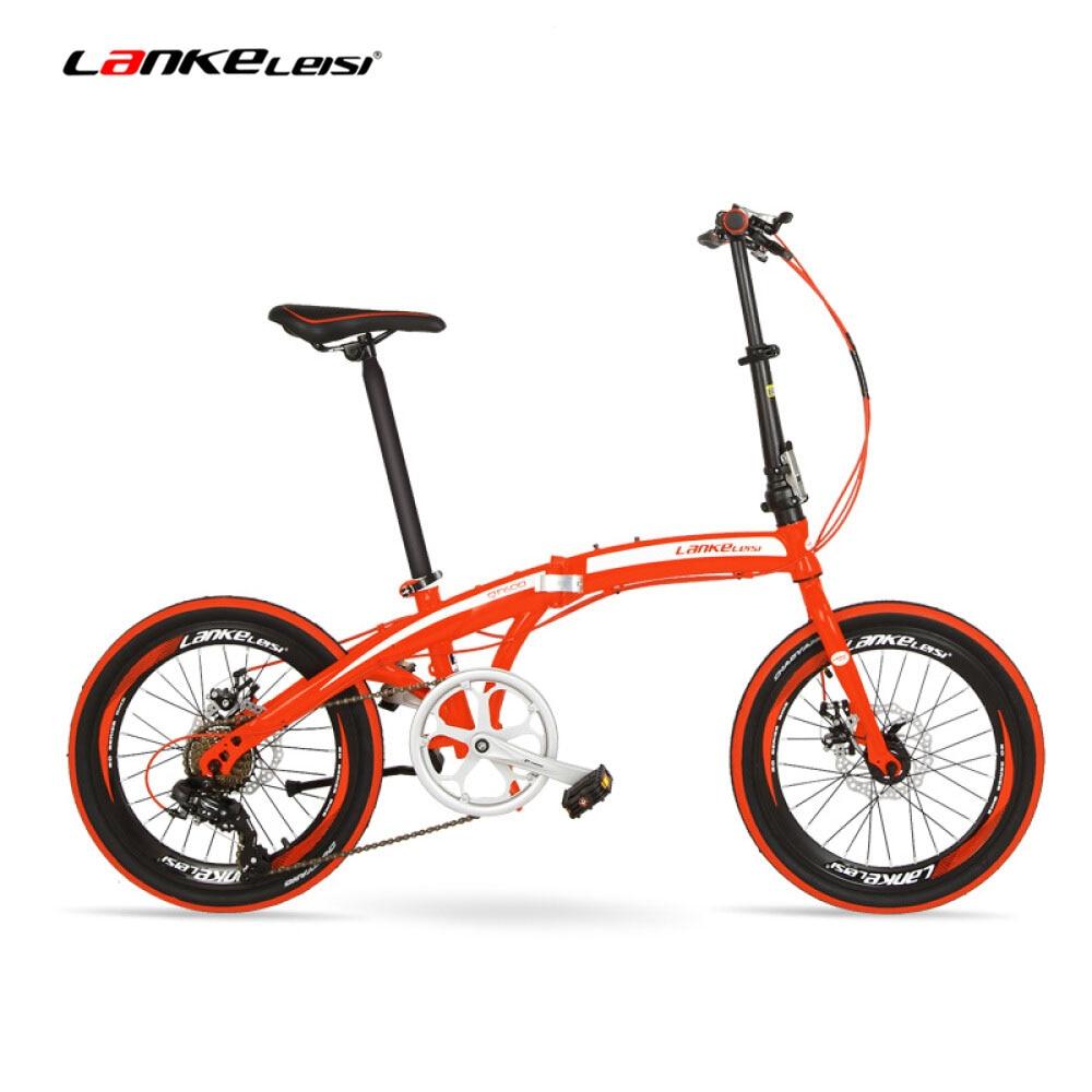 QF600G 20 pollici Bicicletta Pieghevole, 7 Velocità Pieghevole Bici, Telaio In Acciaio Ad Alto tenore di carbonio, BMX, entrambi i Freni A Disco