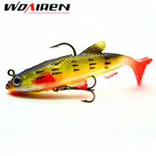 1Pcs 9cm 14g Soft Bait Lead Head Fish Lures  Bass Fishing Tackle Sharp Treble Hook T Tail Sea Fishing Tackle YR-238