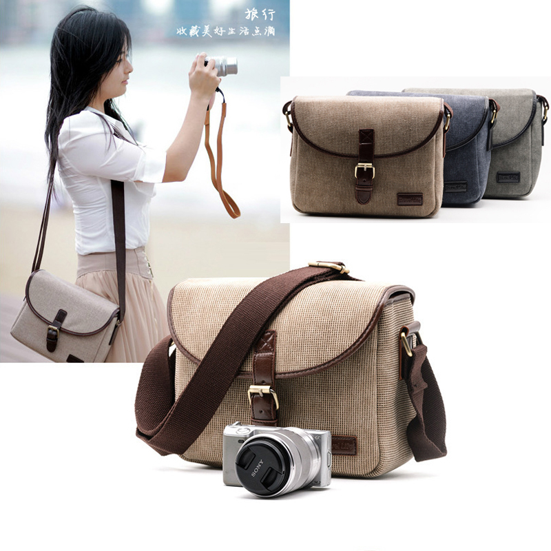 Retro Canvas Photo Camera Bag Case Cover For SONY A7 A7S A7R A7K ILCE-7 A7ii Alpha A7 II Mark II a7RIII A7R3 A7RIII A6300 A6000 цена