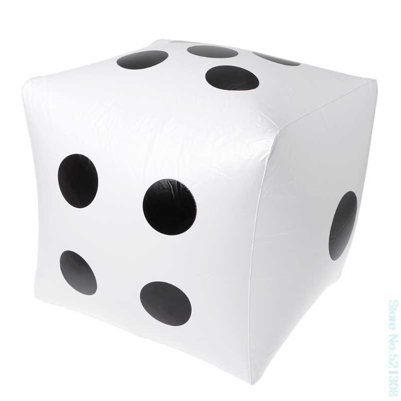 Style 40cm Giant Inflatable Dice Beach Garden Party Outdoor Children Kid Toy Drop Ship
