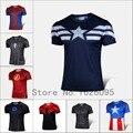 2016 Moda Em Quadrinhos de Super-heróis Deadpool Marvel T shirt Do Traje Sportswear Compressão de Fitness Camisetas Masculinas Secagem rápida