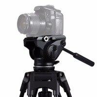 PULUZ Ağır Video Kamera Tripod Kafası ile Sürgülü Plaka DSLR ve SLR Kameralar için Monopod Tripod Kaymak Video Film ateş