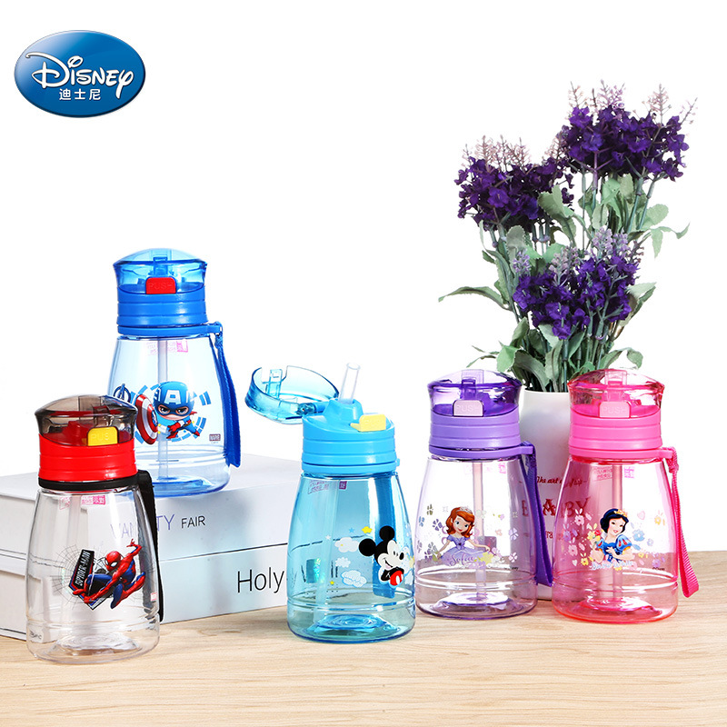 Disney Mickey Mouse Transp Cartoon Cups Kids Spider-man Captain New Drink Straight Baby Sport Bottles Princess Feeding Cups