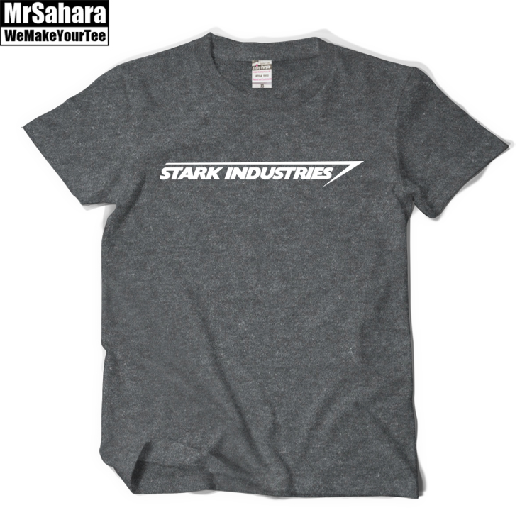 New Mens Fashion Clothing T Shirt STARK INDUSTRIES TONY STARK IRON MAN T SHIRT Men 100% Cotton T-shirt Tops Tees Free Shipping