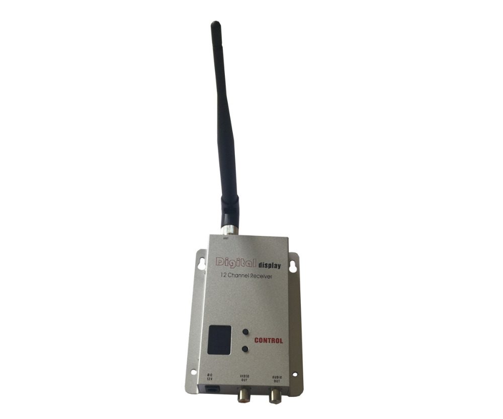 12 Channels Wireless Audio Video Receiver For Transmitter 0.9Ghz~1.3Ghz Receiving DC 12V