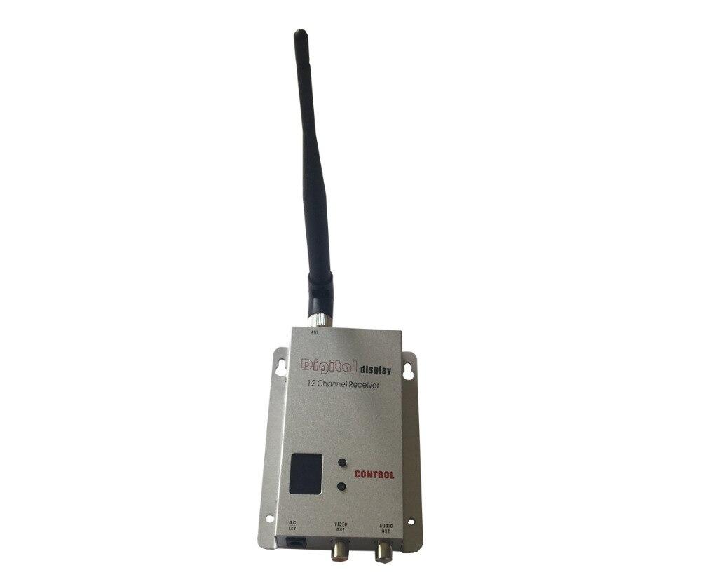 Récepteur Audio vidéo sans fil 12 canaux pour émetteur 0.9 Ghz ~ 1.3 Ghz recevant DC 12 V