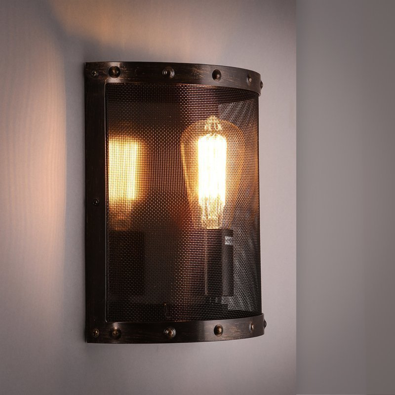 Industrial style Loft American country Iron Retro Small cages Wall lamps Vintage Industrial Lighting Pendant Lights 110-240v klt 982a solder paste glue dropper liquid auto dispenser controller black
