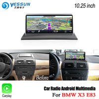 YESSUN 10.25 inch HD Screen For BMW X3 E83 2004~2010 ID6 Car Android Carplay Stereo Audio Player GPS Navigation Media No DVD