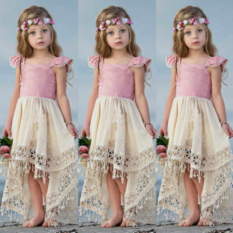 US Cute Toddler Baby Girl Sleeveless Tutu Dress Party Princess Pageant Sundress