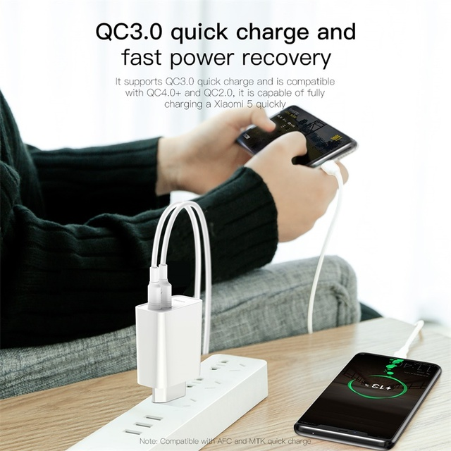 Baseus Quick Charge 4,0 USB зарядное устройство для iPhone 11 Pro Max Xiaomi Samsung Huawei QC4.0 QC3.0 PD Быстрый Настенный мобильный телефон зарядное устройство