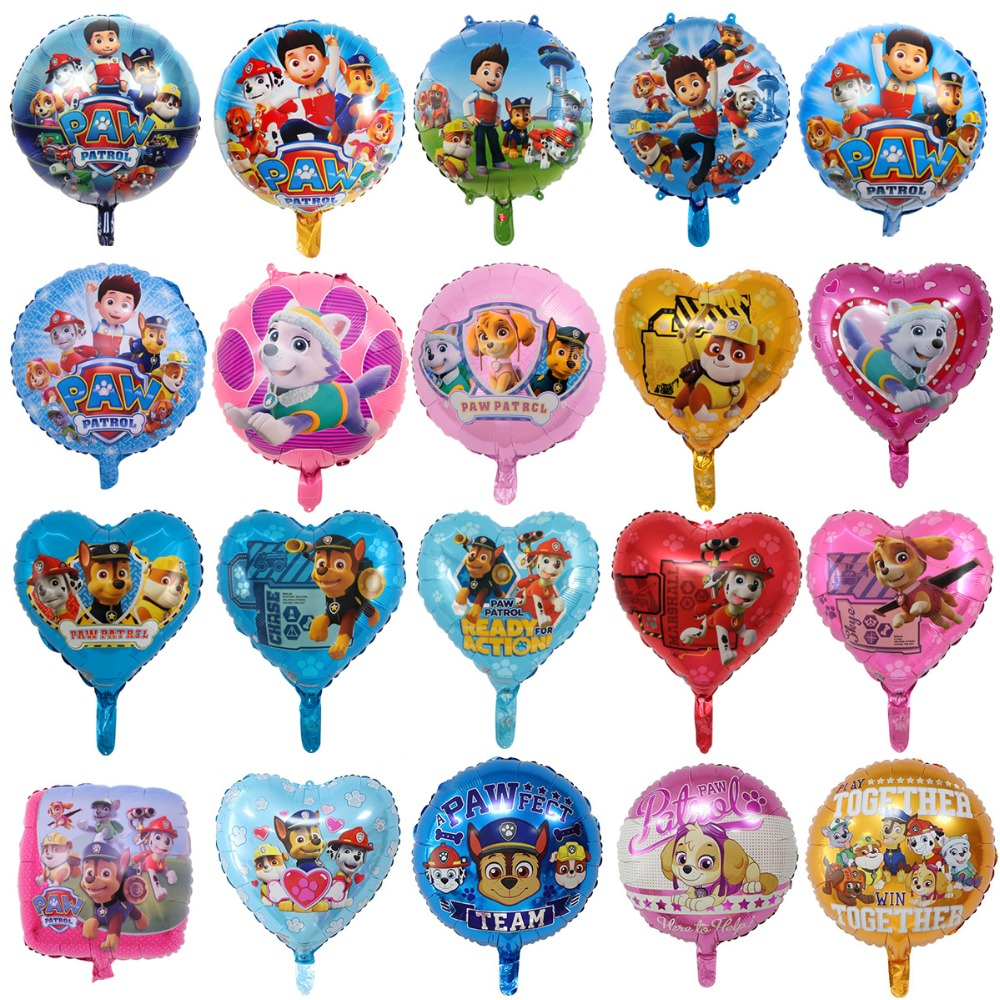 Paw Patrol Puppy Patrol Balloon Figure Toys Birthday Decoration Toy Chase Marshall Party Room Deco  Ballon Children Girls Toys