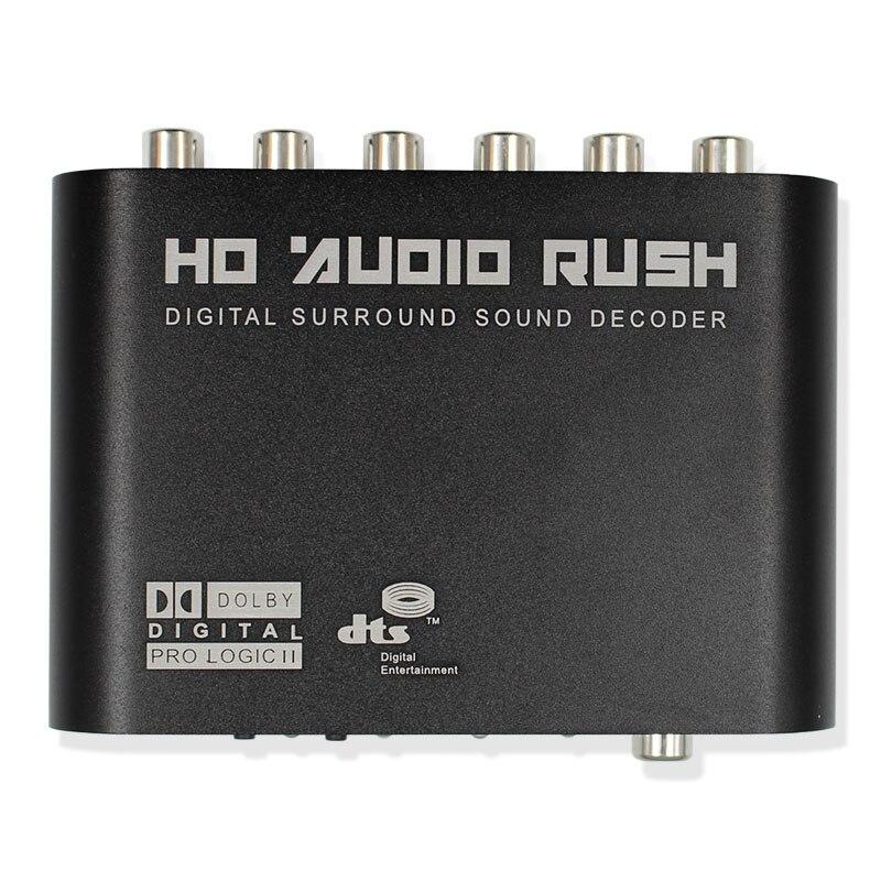 Ernst Digitale Ac3 Optische Zu Stereo Surround Analog Hd 5,1 Audio Decoder 2 Spdif Ports Hd Audio Eile Für Hd Spieler /dvd/xbox360 Tragbares Audio & Video Unterhaltungselektronik