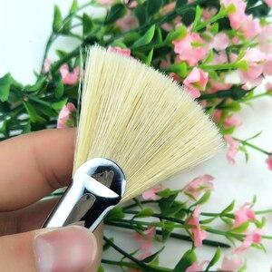 Image 3 - Alta qualidade cerdas de cabelo peixe cauda fã forma pincel pintura 12pcs artista acrílico pincéis pintura a óleo conjunto paisagem desenho escova