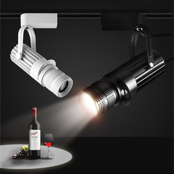 Thrisdar Zoom LED Track Lampu Sorot 4 Level Disesuaikan Fokus Downlight Ceiling LED Restuarant Bar Museum Cafe Shop Track Light