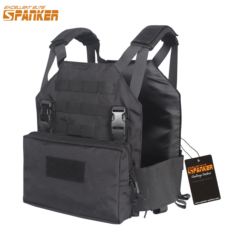 EXCELLENT ELITE SPANKER Outdoor Tactical Vest Plate Carrier AMP Military Vest with Utility Pouch Two-in-one Hunting Equipment