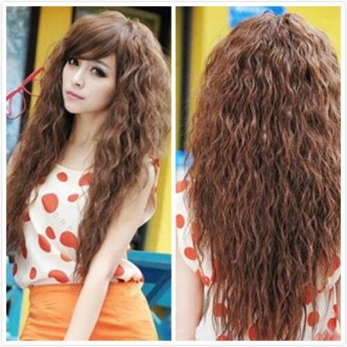 wigshow recin llegado perruque cheveux naturel sinttico rizado rizado largo mujeres pelucas resistente al calor with cortes pelo ondulado largo