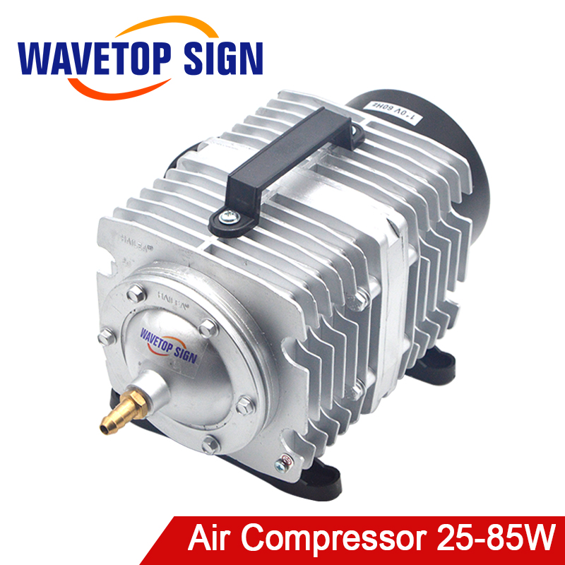 HAILEA 25-85W Air Compressor Air Pump for CO2 Laser Engraving Cutting Machine ACO Fish Tank Oxygen Air Pump Hydroponics 6 Way