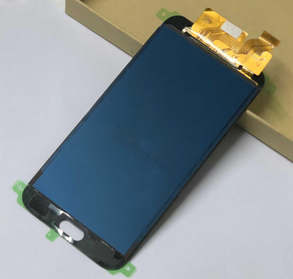 الذهب لسامسونج غالاكسي J730 J7 برو 2017 كامل محول الأرقام بشاشة تعمل بلمس الاستشعار الزجاج + شاشة الكريستال السائل لوحة وحدة الجمعية