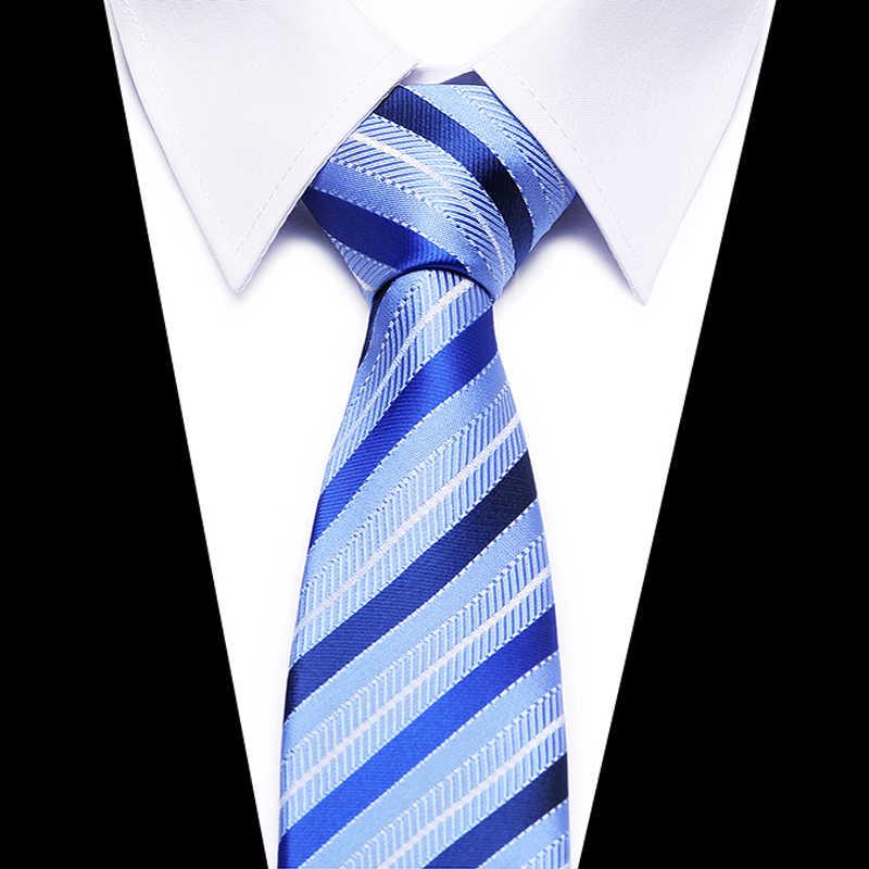 Мужской галстук официальная деятельность vestidos Свадебный Классический Сетка в полоску 8 см corbatas модное платье-рубашка аксессуары сплошной клетчатый галстук