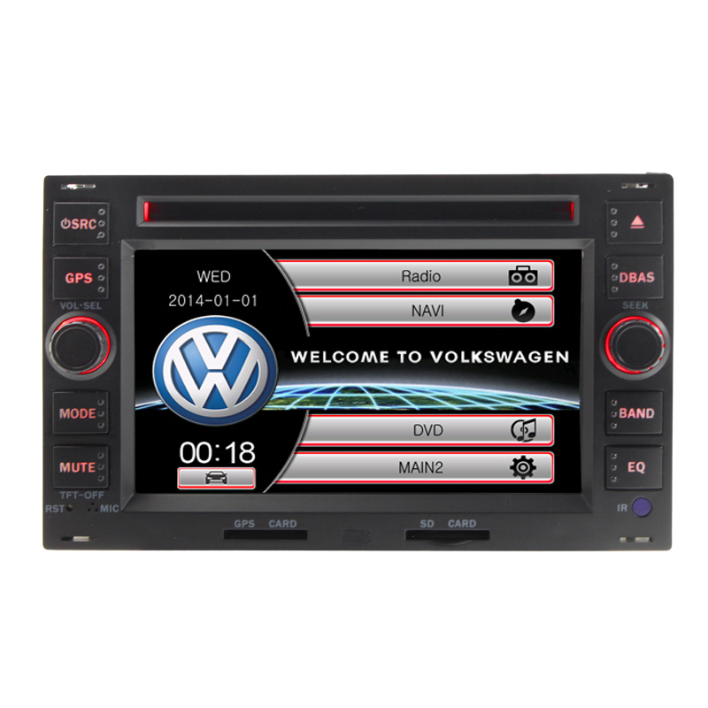 Wince6.0 Double 2 Din 6Inch Car DVD Player For VW Volkswagen Passat B5 Golf 4 POLO Bora With Bluetooth RDS Radio Stereo Video FM