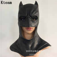 Top Grade Batman Mask Adult Halloween Movie Mask Realistic Full Face Latex Party Mask Caretas Movie Bruce Wayne Cosplay Props