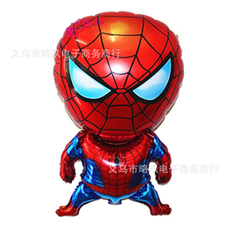 1PC Spiderman Aluminum Foil Balloon Classic Toy Cartoon Inflatable Birthday Party Decoration Balloon