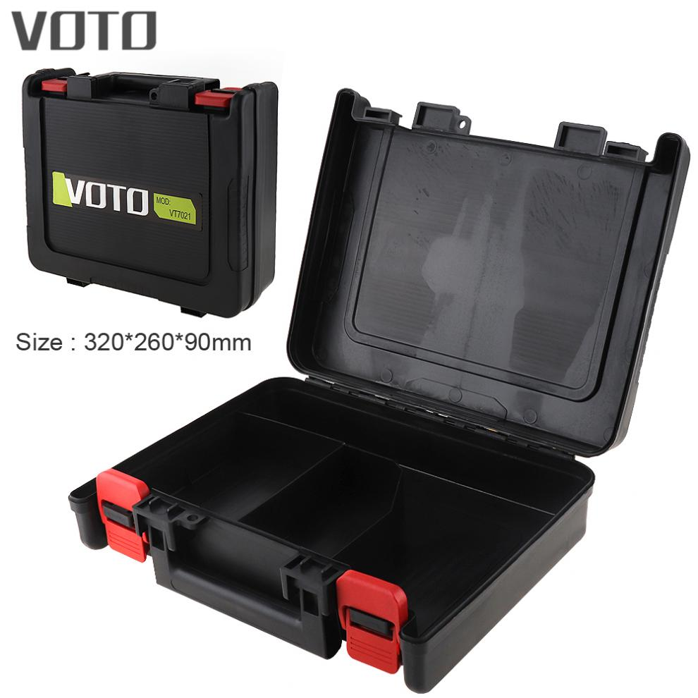 Power Tool Suitcase 12 / 16.8 / 21V Electric Drill Universal Tool Box with 320mm Length and 260mm Width for Screwdriver / Drill voto power tool suitcase 12v electric drill dedicated load tool box with 265mm length and 235mm width for electric screwdriver