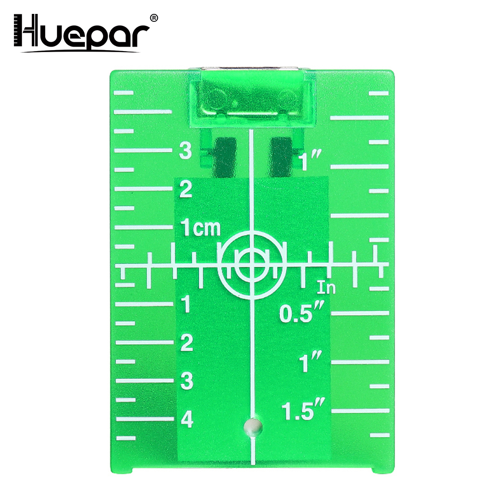 Huepar Green Target Plate Card With Stand For Green Beam Cross Line Laser Levels Laser Enhancement Can be Magnetic / Hanging On